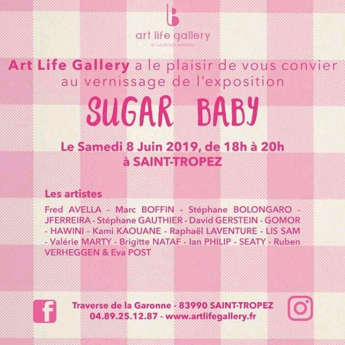 Vernissage SUGAR BABY à Saint-Tropez