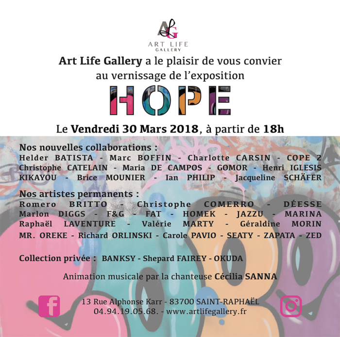 Vernissage HOPE à Saint-Raphaël