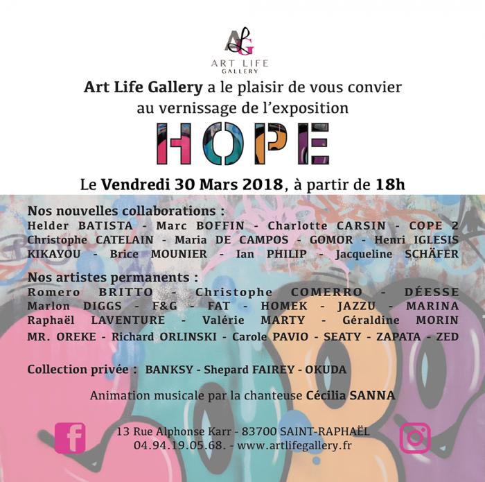 Vernissage HOPE à Saint-Raphaël