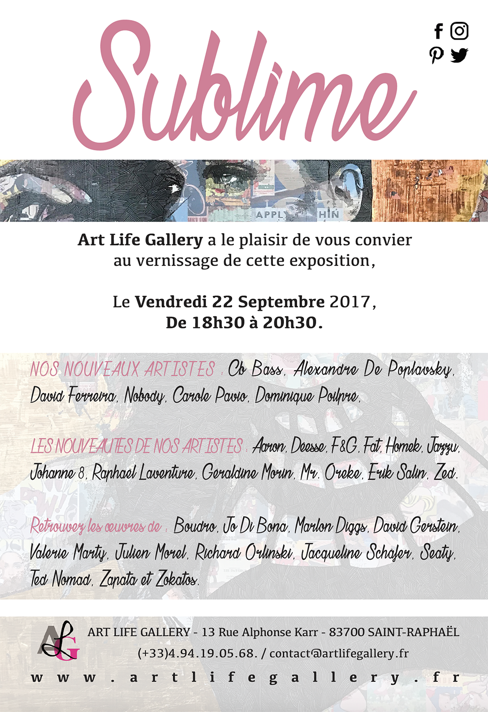 Vernissage SUBLIME à Saint-Raphaël