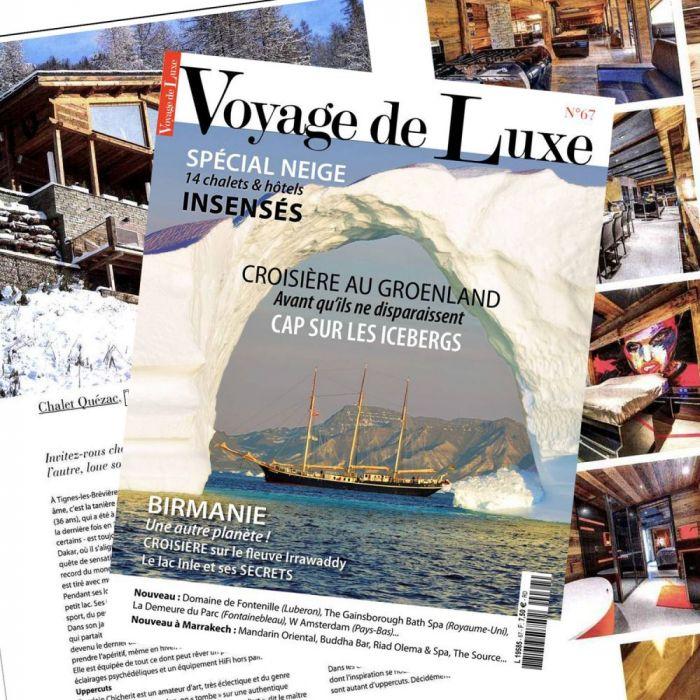 Publication dans le magazine VOYAGE DE LUXE