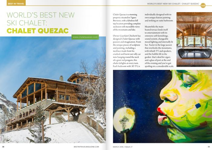 Publication dans le magazine BEST IN TRAVEL