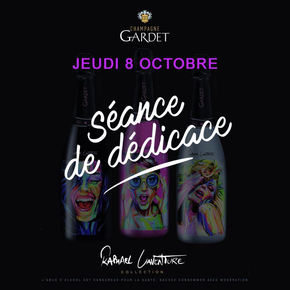 Séance de dédicace à la maison de Champagne GARDET